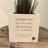 Personalised Flower / Plant Pot In Memory Loved One HUSBAND Memorial OR ANY NAME - 333290577630